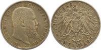 2 Mark 1904  F Württemberg Wilhelm II. 1891-1918. Winz. Randfehler. Seh... 24,00 EUR  zzgl. 4,00 EUR Versand