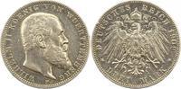 3 Mark 1909  F Württemberg Wilhelm II. 1891-1918. Randfehler, sehr schö... 16,00 EUR  zzgl. 4,00 EUR Versand