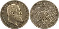 3 Mark 1911  F Württemberg Wilhelm II. 1891-1918. Sehr schön +  17,00 EUR  zzgl. 4,00 EUR Versand