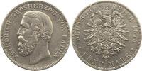 5 Mark 1875  G Baden Friedrich I. 1856-1907. Randfehler, berieben, schö... 45,00 EUR  zzgl. 4,00 EUR Versand