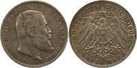 3 Mark 1908  F Württemberg Wilhelm II. 1891-1918. Schöne Patina. Sehr s... 17,00 EUR  zzgl. 4,00 EUR Versand