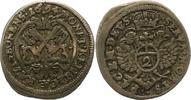 2 Kreuzer zu 1/2 Batzen 1694 Regensburg-Stadt  Sehr schön +  34,00 EUR  zzgl. 4,00 EUR Versand