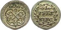Pfennig 1758 Regensburg-Stadt  Vorzüglich +  25,00 EUR  zzgl. 4,00 EUR Versand