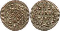 Pfennig 1765 Regensburg-Stadt  Sehr schön +  12,00 EUR  zzgl. 4,00 EUR Versand
