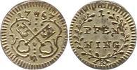 Pfennig 1767 Regensburg-Stadt  Vorzüglich +  22,00 EUR  zzgl. 4,00 EUR Versand