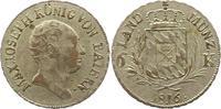 6 Kreuzer 1816 Bayern Maximilian I. Joseph 1806-1825. Sehr schön +  14,00 EUR  zzgl. 4,00 EUR Versand