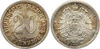 20 Pfennig 1875  D Kleinmünzen  Prachtexemplar. Fast Stempelglanz  55,00 EUR  +  4,00 EUR shipping