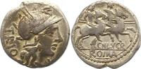 Republik Denar CN. Lucretius Trio 136 -126 v. Chr..