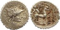 Republik Denar (Serratus) L. Licinius Crassus, Cn. Domitius Ahenobarbus et al 118 v. Chr..