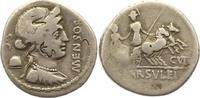 Republik Denar L. Farsuleius Mensor 75 v. Chr..