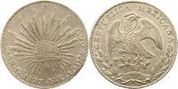 8 Reales 1877  GO Mexiko Republik. Randfehler, vorzüglich  45,00 EUR  zzgl. 4,00 EUR Versand
