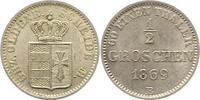 1/2 Groschen 1869  B Oldenburg Nicolaus Friedrich Peter 1853-1900. Vorz... 14,00 EUR  zzgl. 4,00 EUR Versand
