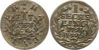 Sechsling 1751 Hamburg, Stadt  Sehr schön  19,00 EUR  zzgl. 4,00 EUR Versand