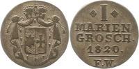 Mariengroschen 1820 Waldeck Georg Heinrich 1813-1845. Sehr schön  35,00 EUR  zzgl. 4,00 EUR Versand