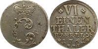 1/6 Taler 1761 Braunschweig-Wolfenbüttel Karl I. 1735-1780. Stempelfehl... 30,00 EUR  zzgl. 4,00 EUR Versand