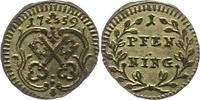 Pfennig 1759 Regensburg-Stadt  Vorzüglich  18,00 EUR  zzgl. 4,00 EUR Versand