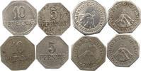 5 und 10 Pfennig 1917 Warburg (Westfalen), Kreis  Sehr schön  10,00 EUR  zzgl. 4,00 EUR Versand