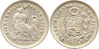 Dinero 1866  YB Peru  Fast vorzüglich  12,00 EUR  zzgl. 4,00 EUR Versand