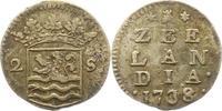 2 Stuiver 1738 Niederlande-Zeeland, Provinz  Sehr schön  15,00 EUR  zzgl. 4,00 EUR Versand
