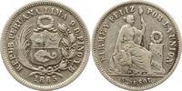 1/5 Sol 1865 Peru  Sehr schön  7,00 EUR  zzgl. 4,00 EUR Versand