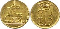 1/4 Dukat Gold  1704-1739 Stolberg-Stolberg Jost Christian, allein 1704... 595,00 EUR kostenloser Versand