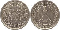 50 Reichspfennig 1932  E Weimarer Republik  Sehr schön - vorzüglich  110,00 EUR  zzgl. 4,00 EUR Versand
