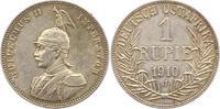 Rupie 1910  J Deutsch Ostafrika  Schöne Patina. Vorzüglich  115,00 EUR  zzgl. 4,00 EUR Versand