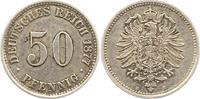 50 Pfennig 1877  B Kleinmünzen  Sehr schön  15,00 EUR  zzgl. 4,00 EUR Versand