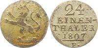 1/24 Taler 1807  F Hessen-Kassel Wilhelm I. 1803-1821. Winz. Schrötling... 12,00 EUR  zzgl. 4,00 EUR Versand
