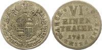 1/6 Taler 1763 Hildesheim-Bistum Friedrich Wilhelm von Westfalen 1763-1... 22,00 EUR  zzgl. 4,00 EUR Versand