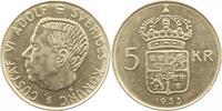 5 Kronen 1955 Schweden Gustav VI. 1950-1973. Vorzüglich  4,00 EUR  zzgl. 4,00 EUR Versand