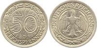50 Reichspfennig 1935  D Weimarer Republik  Vorzüglich  10,00 EUR  zzgl. 4,00 EUR Versand