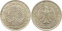 50 Reichspfennig 1938  J Weimarer Republik  Vorzüglich +  24,00 EUR  zzgl. 4,00 EUR Versand