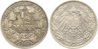 1/2 Mark 1908  J Kleinmünzen  Sehr schön  7,00 EUR  zzgl. 4,00 EUR Versand