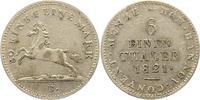 1/6 Taler 1821  B Braunschweig-Calenberg-Hannover Georg IV. 1820-1830. ... 32,00 EUR  zzgl. 4,00 EUR Versand
