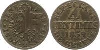 4 Centimes 1839 Schweiz-Genf, Stadt  Sehr schön +  12,00 EUR  zzgl. 4,00 EUR Versand