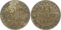 25 Centimes 1844 Schweiz-Genf, Stadt  Sehr schön  12,00 EUR  zzgl. 4,00 EUR Versand