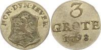 3 Grote 1798 Jever-Grafschaft Friederike Auguste Sophie 1793-1801. Sehr... 50,00 EUR  zzgl. 4,00 EUR Versand