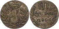 3 Stüber 1 1806 Jülich-Berg Joachim 1806-1808. Sehr schön  20,00 EUR  zzgl. 4,00 EUR Versand
