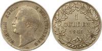 Gulden 1843 Württemberg Wilhelm I. 1816-1864. Winz. Randfehler, sehr sc... 46,00 EUR  zzgl. 4,00 EUR Versand