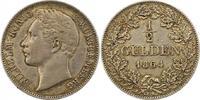1/2 Gulden 1864 Württemberg Wilhelm I. 1816-1864. Schöne Patina. Sehr s... 50,00 EUR  zzgl. 4,00 EUR Versand