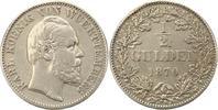 1/2 Gulden 1870 Württemberg Karl 1864-1891. Henkelspur, schön - sehr sc... 22,00 EUR  zzgl. 4,00 EUR Versand