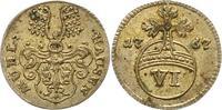 6 Pfennig 1767 Mühlhausen, Stadt  Vorzüglich  42,00 EUR  zzgl. 4,00 EUR Versand