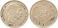 25 Öre 1 1891 Dänemark Christian IX. 1863-1906. Sehr schön  38,00 EUR  zzgl. 4,00 EUR Versand