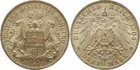 3 Mark 1908  J Hamburg  Vorzüglich +  32,00 EUR  zzgl. 4,00 EUR Versand