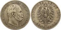 5 Mark 1874  A Preußen Wilhelm I. 1861-1888. Fast sehr schön  30,00 EUR  zzgl. 4,00 EUR Versand