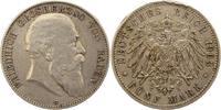5 Mark 1903  G Baden Friedrich I. 1856-1907. Kräftige Randfehler, sehr ... 30,00 EUR  zzgl. 4,00 EUR Versand