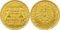 10 Mark Gold 1888  J Hamburg  Sehr schön  240,00 EUR  zzgl. 4,00 EUR Versand