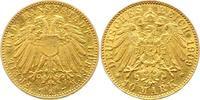 10 Mark Gold 1909  A Lübeck  Kratzer, sehr schön  2000,00 EUR kostenloser Versand