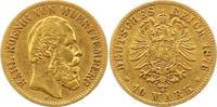 10 Mark Gold 1876  F Württemberg Karl 1864-1891. Sehr schön  225,00 EUR  zzgl. 4,00 EUR Versand